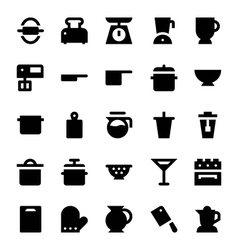 Kitchen Utensils Icons 4 vector image