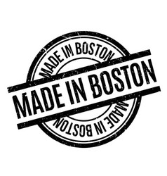 Made in boston rubber stamp vector