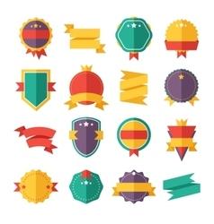Modern flat design badges collection vector image