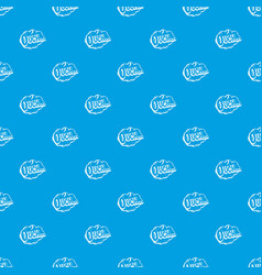 Ouch speech cloud pattern seamless blue vector