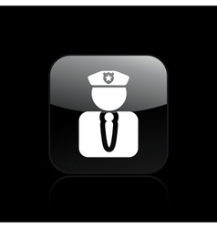 police agent icon vector image vector image