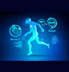 running man vector image vector image