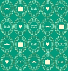 Seamless wallpaper for Happy father day vector image