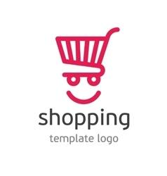 Shopping template logo vector image vector image