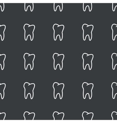 Straight black tooth pattern vector