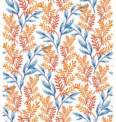 Summer leaves pattern vector