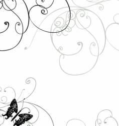 wavy line swirls vector image vector image