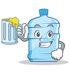 With juice gallon character cartoon style vector