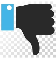 Thumb down icon vector