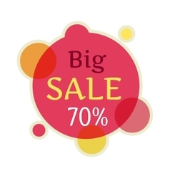 Big sale round banner isolated 70 percent vector