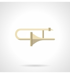 Adjustment of brass instruments flat icon vector