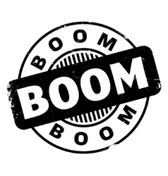 Boom rubber stamp vector
