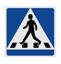 Traffic sign pedestrian crossing vector