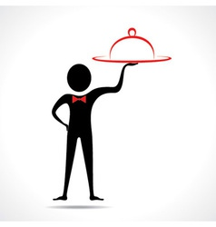 man with platter vector image