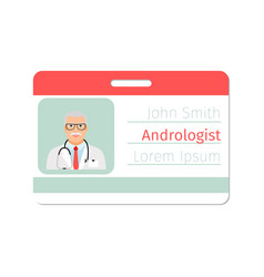 andrologist medical specialist badge template vector image