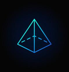 Pyramid colorful icon vector