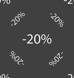 20 percent discount sign icon sale symbol special vector