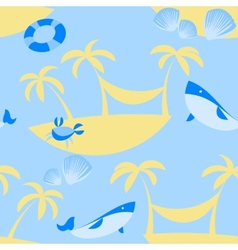 Seamless beach pattern vector