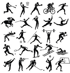 Sport icon set vector