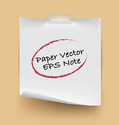 Paper note isolated vector image
