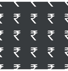Straight black indian rupee pattern vector