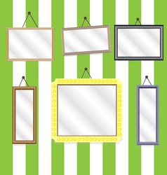 Set picture frames vector