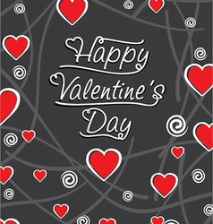 happy valentine day greeting card design vector image