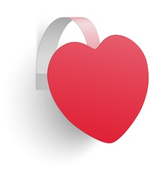 Advertising wobbler looking like heart isolated vector
