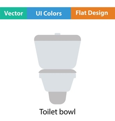Toilet bowl icon vector