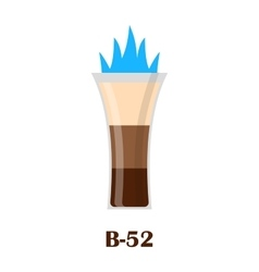 B-52 fired shot drink vector