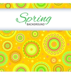 Postcard with yellow seamless pattern vector