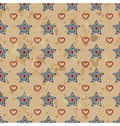 American vintage seamless pattern vector image