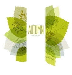 Autumn background with leaves vector image vector image