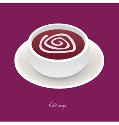 beet soup vector image vector image