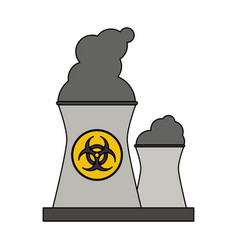 Color graphic industrial factory icon biohazard vector
