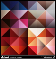 Colorful triangles background vector image vector image