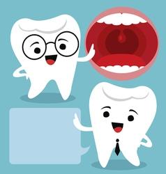 Dental cartoons vector image