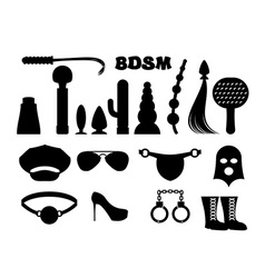 fetish sign Sex icons for BDSM Sextoys for xxx vector image vector image
