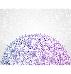 floral tender card vector image vector image