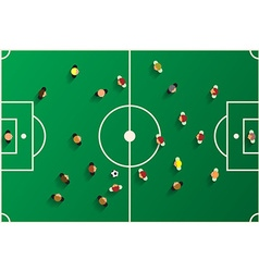 Football Top View Playground with Players Soccer vector image