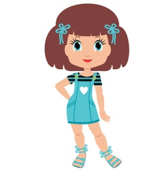 girl cartoon vector image