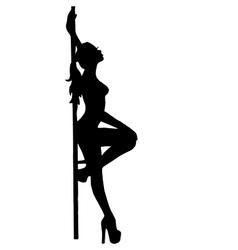 Girlstripteasepooldance go-go dance vector