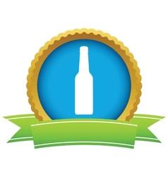 Gold bottle logo vector