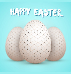 happy easter painted egg vector image