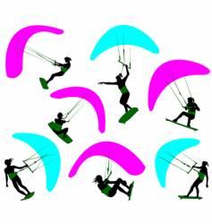 kitesurfing vector image