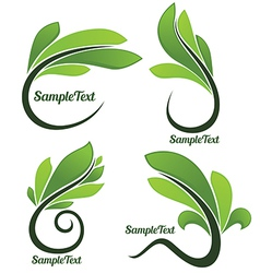 leaves forms vector image