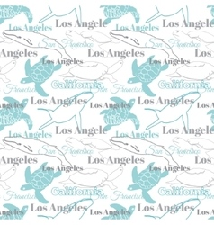 Light california cities animals travel vector