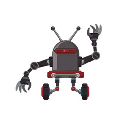 robot machine technology vector image vector image