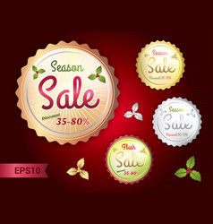 set of retro promotion discount sale vector image