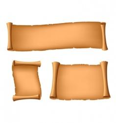 three ancient scrolls vector image vector image